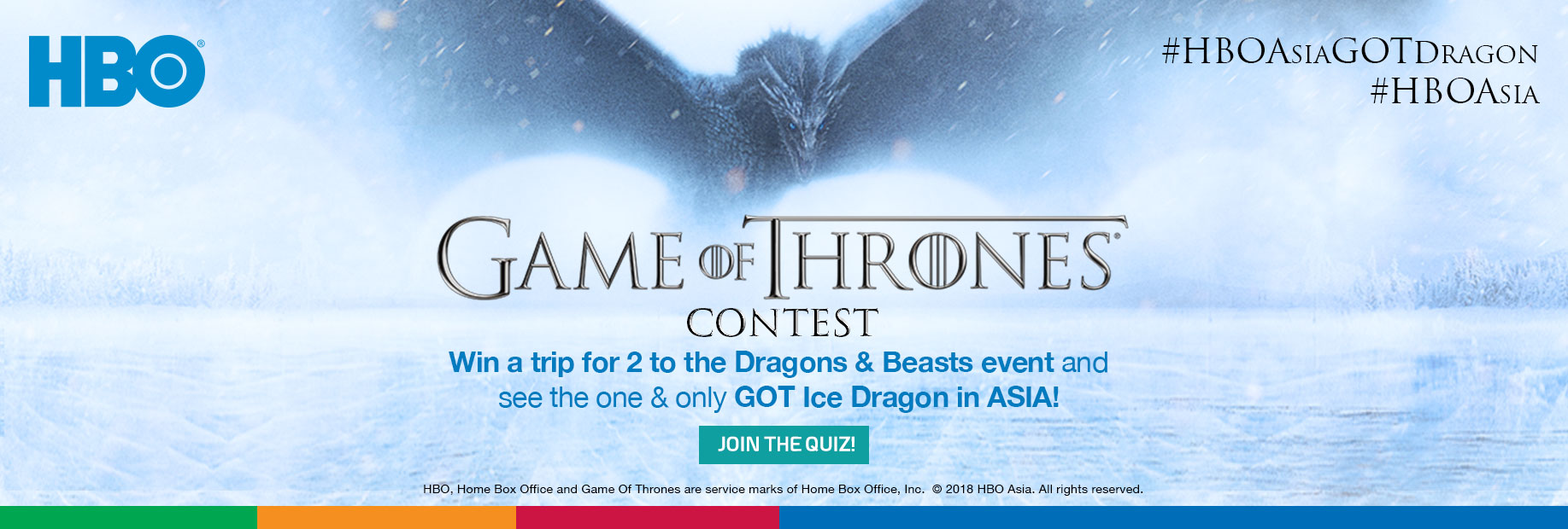 HBO GOT Flyaway to Singapore Contest image